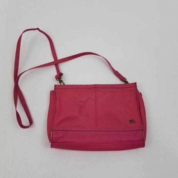 The Sak Handbags - ~ The Sak Purse Cross Body Bag Pink Leather Should